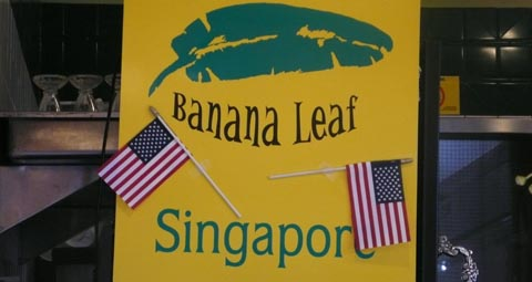 banana leaf sign at los angeles farmers market