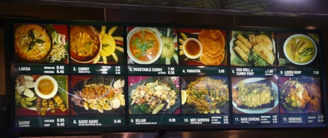 banana leaf menu at los angeles farmers market