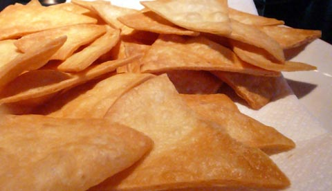 mission tortillas for vegan nachos - flour tortillas deep fried