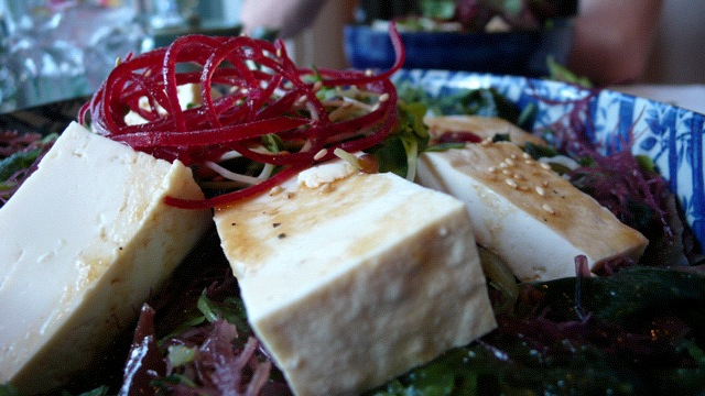 Close-up of YUMMY salad