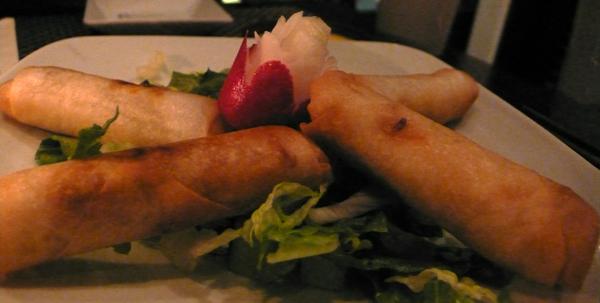 vermicilli spring rolls: $8.95