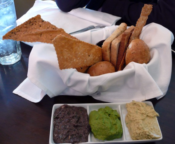 bread basket: an assortment of our freshly baked breads with 3 of our homemade spreads. $6