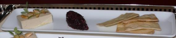 pine nut terrine. cranberry, cardamom, flatbread. $8