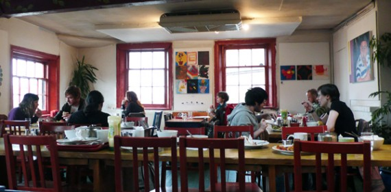 interior of the egg cafe in liverpool.
