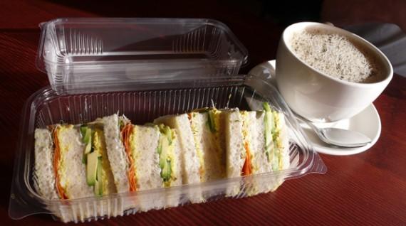 tofu salad sandwich. $6.95