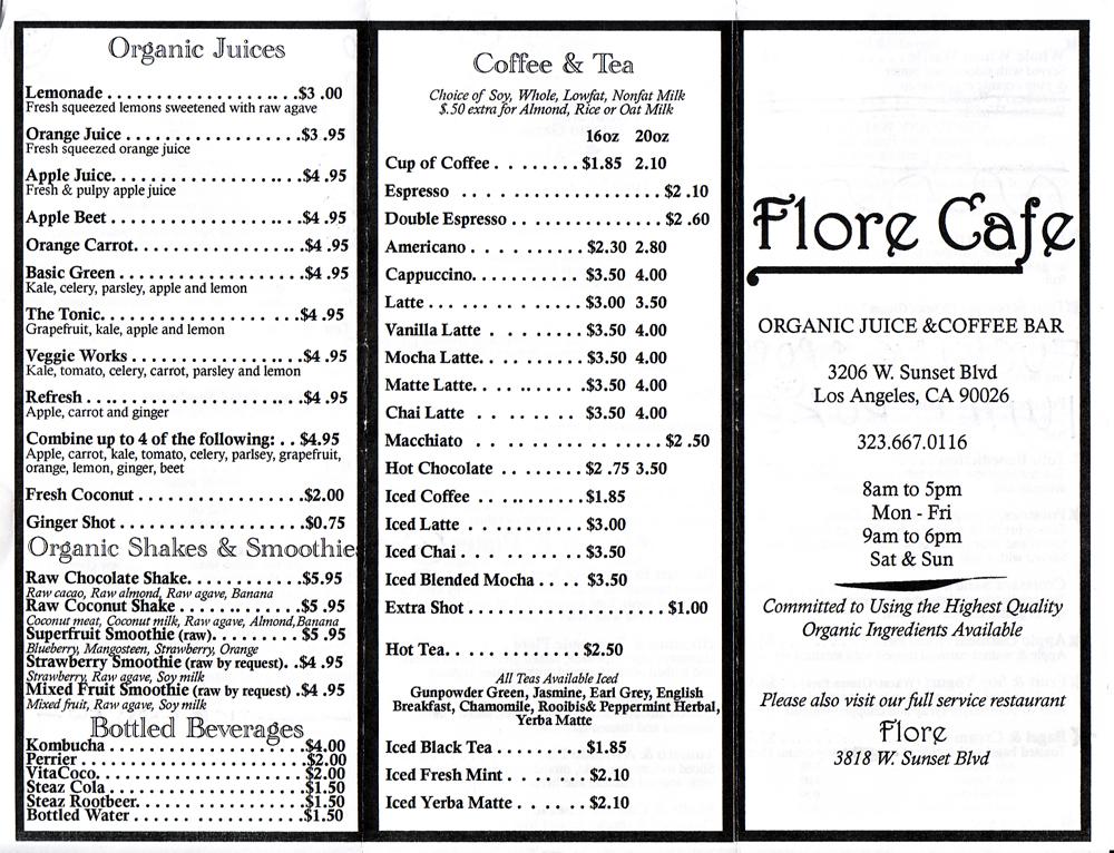 Quarrygirl Com 187 Blog Archive 187 New Flore Cafe Menu 2