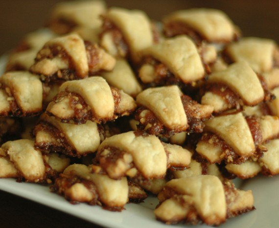 vegan rugelach: raspberry, strawberry or apricot. 6 pieces/ $5.25