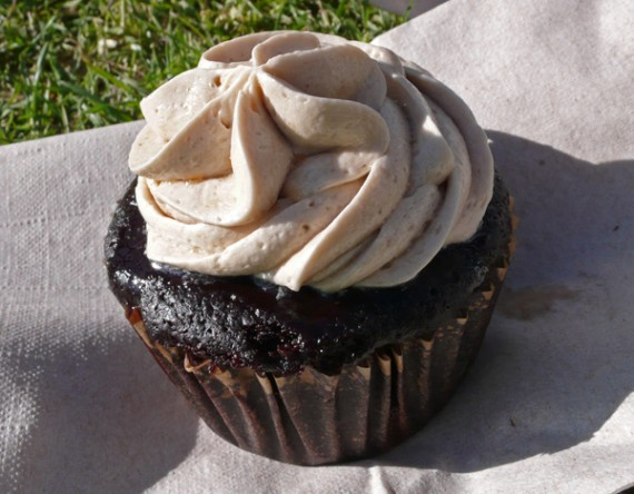 luscious organic desserts espresso cupcake