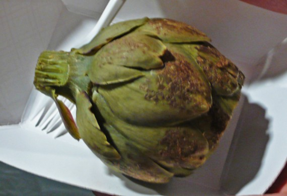 ridiculously expensive artichoke. $7