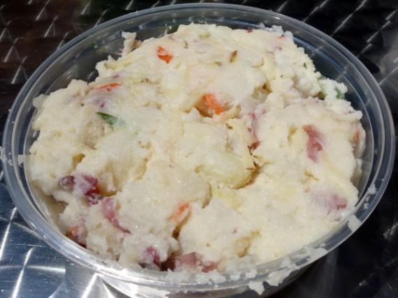 vegan korean style potato salad