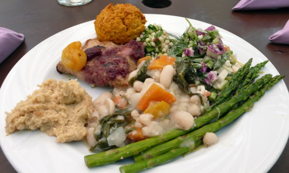 vegetarian brunch buffet with vegan options. $31 per person.
