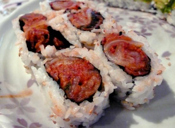 kimchi roll. $7.50