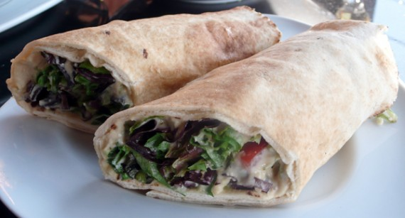 Vegetable Wrap with Daiya Cheese