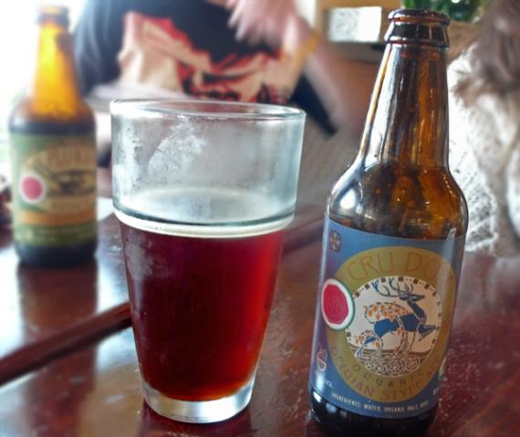 organic beer. $5