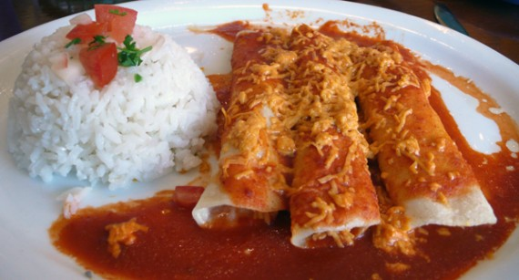 Vegan Daiya Cheese Enchiladas at Mama's Hot Tamales Cafe