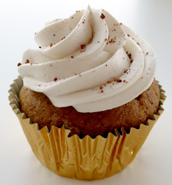 vegan bake sale pumpkin spice cupcake