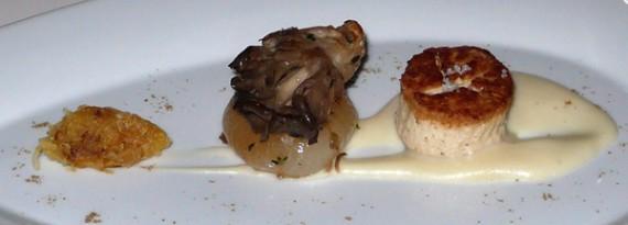 seared tofu, smoked parsnip sauce, maitake mushroom, cipollini onion, cumin spaghetti squash