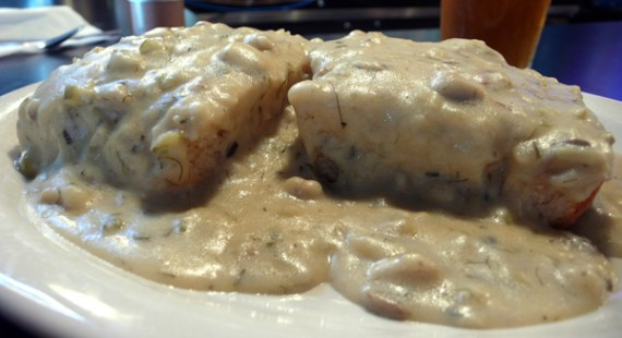 vegan biscuits and gravy at hungry tiger too