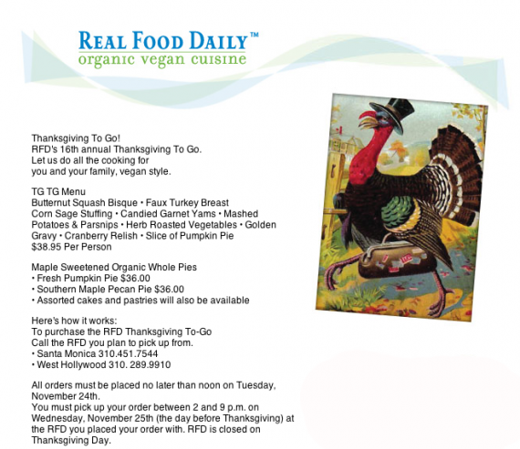 real food daily thanksgiving