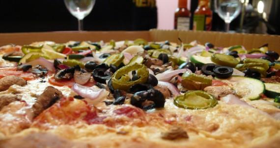 vegan california pizza at zpizza