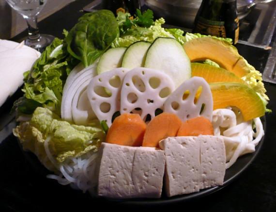 all you can eat vegan shabu shabu. $12