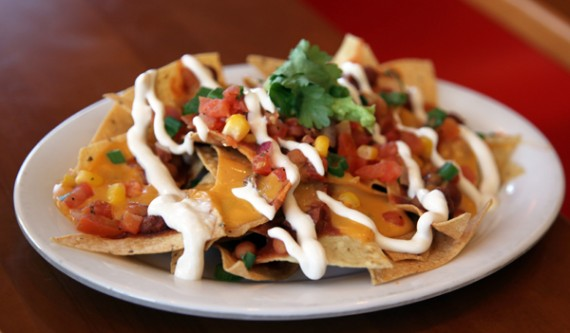 vegan nachos at veggie grill