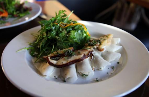shiitake mushroom ravioli: stuffed with herbed cashew cheese; chickpea ...