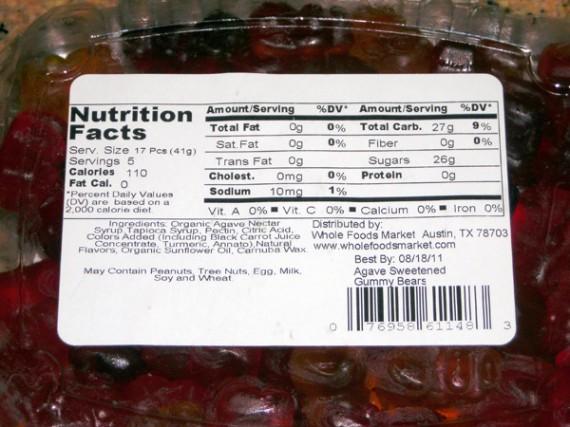 Whole Foods Gummy Bears Ingredients